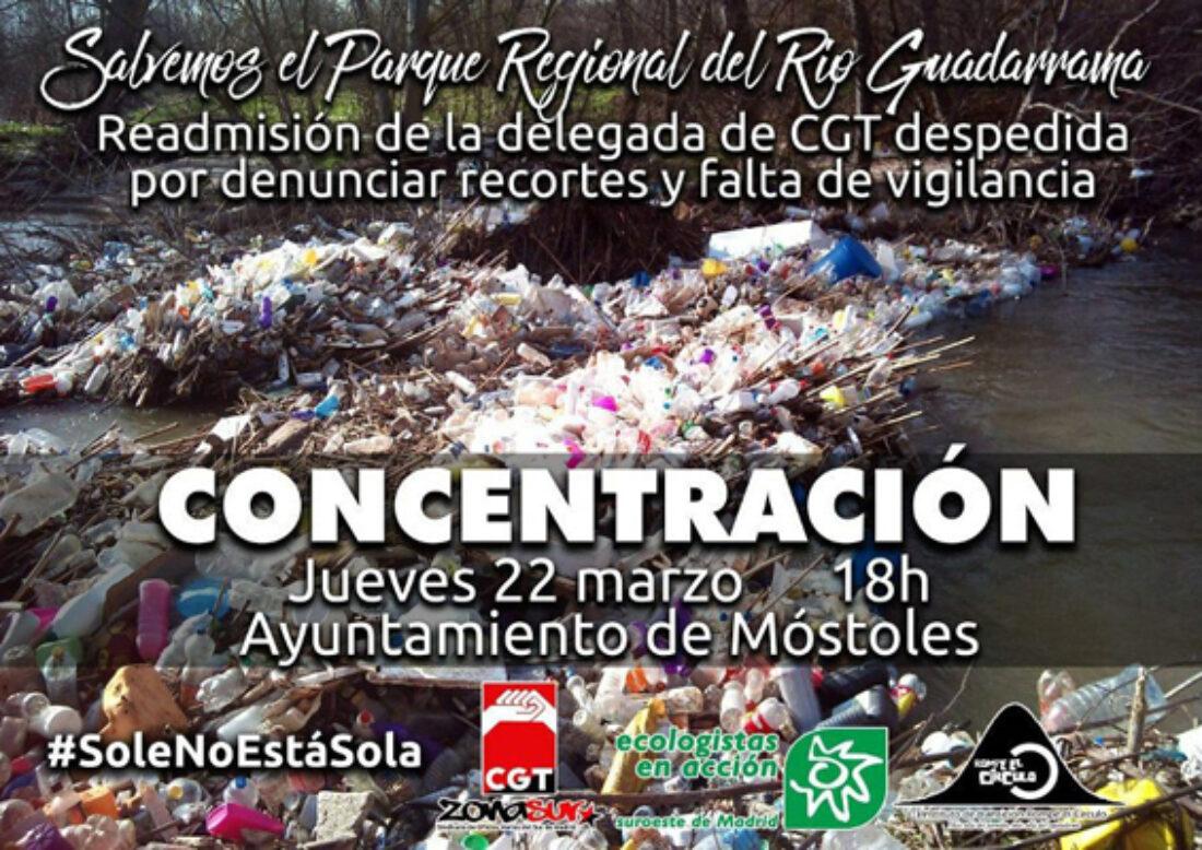 Concentración por la Readmisión de la Delegada Sindical de CGT en el P.R. del Río Guadarrama