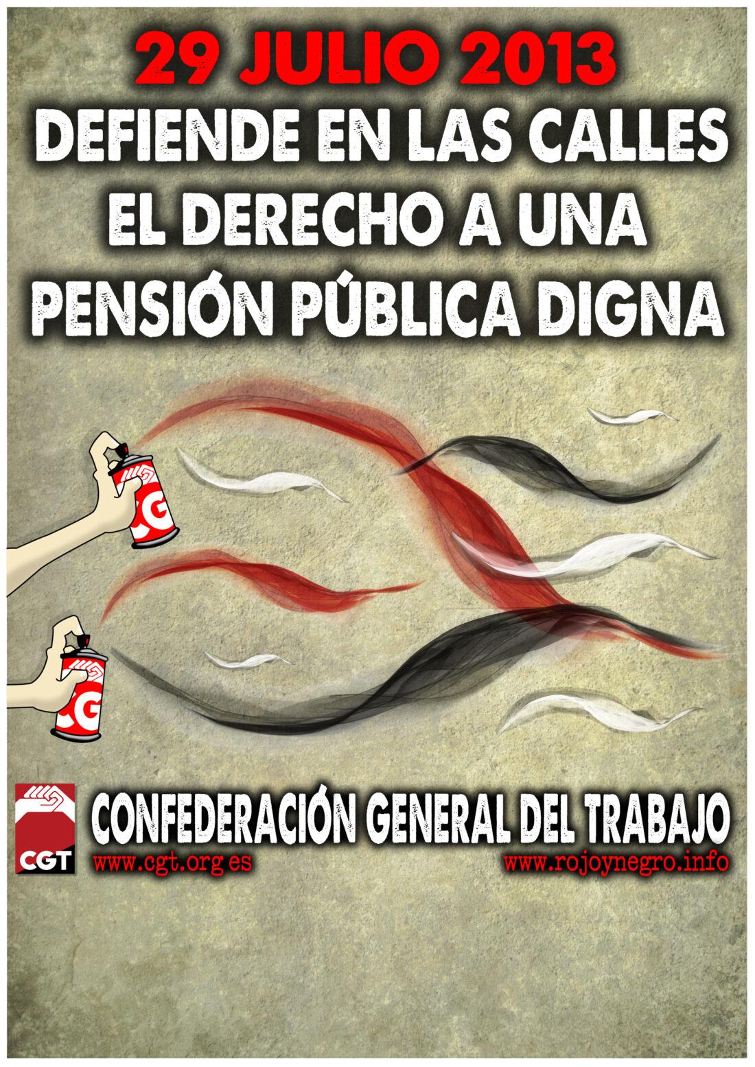 29J: CGT convoca Jornada de movilización estatal contra la reforma de las pensiones