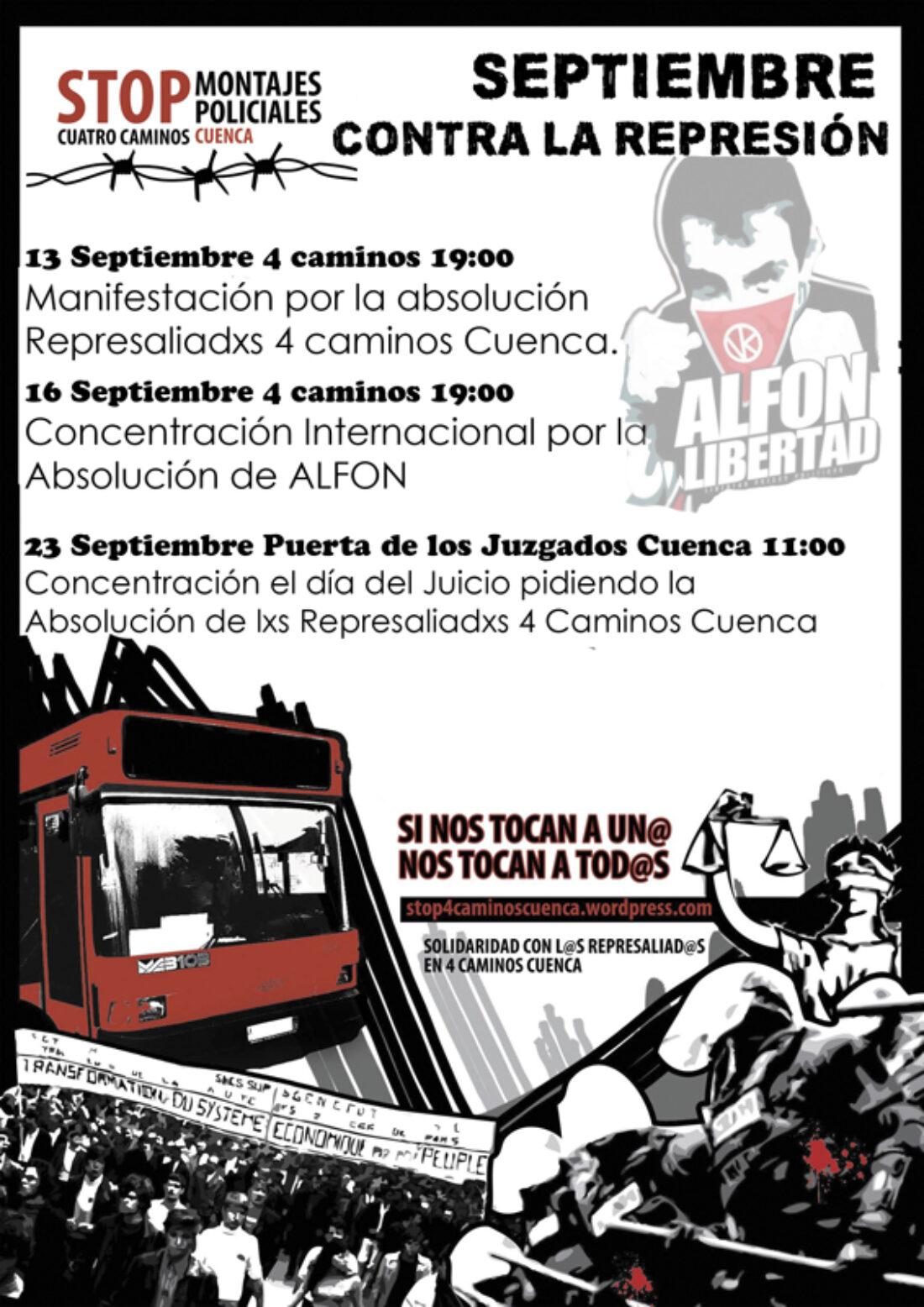 Septiembre contra la represión Cuenca