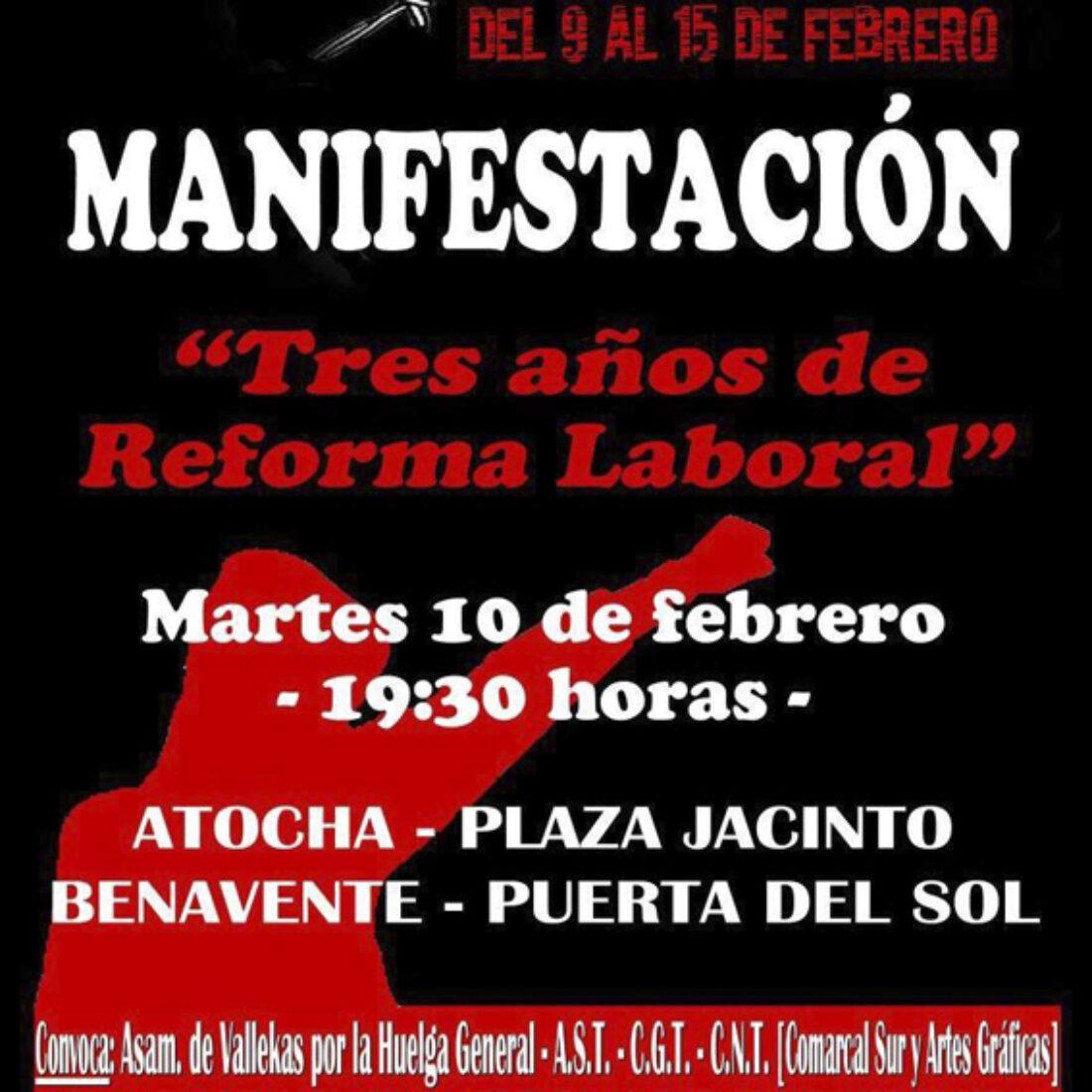 10-F: Manifestación contra la Reforma Laboral