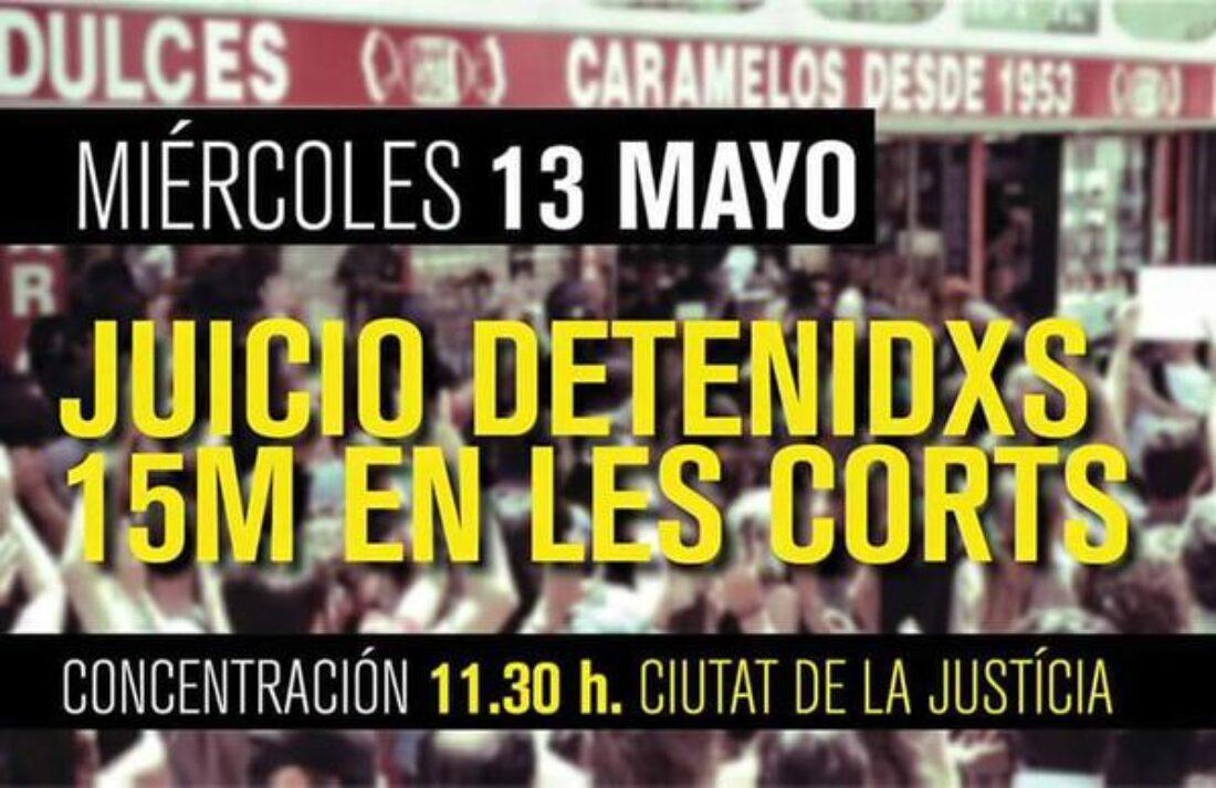 13-m València: Juicio detenidas 15M en las Cortes
